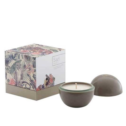 Only Orb Sari Ceramic Orb Candle Moss Green