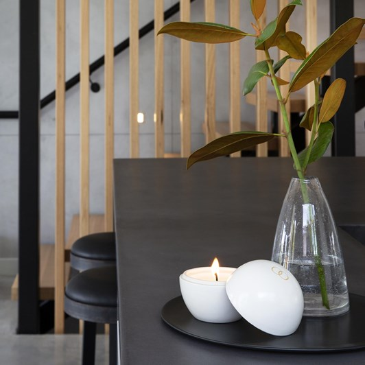 Only Orb Senja Ceramic Orb Candle Milk White