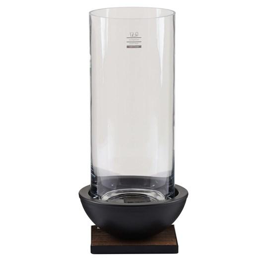 Schlittler Hurricane Iron And Glass Round Candle Holder