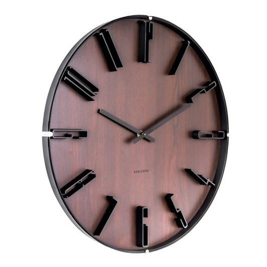 Karlsson Wooden Wall Clock Sentient