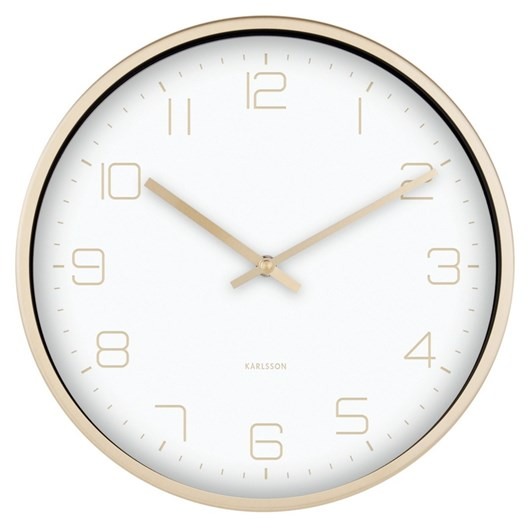 Karlsson Wall Clock Gold Elegance White