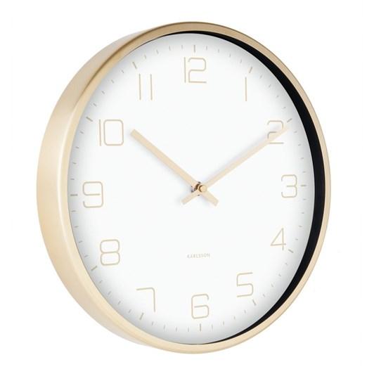 Karlsson Wall Clock Gold Elegance White