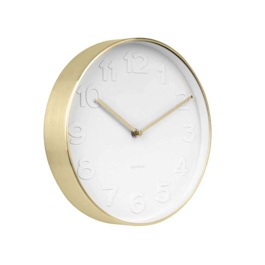 Karlsson Wall Clock Mr White Large White & Gold