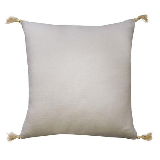 Madras Link Goa Offwhite Linen Tassel Cushion 55cm