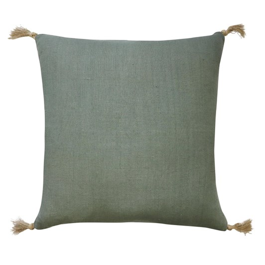 Madras Link Goa Sage Linen Tassel Cushion 55cm