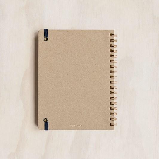Rollbahn Notebook Grid Medium Block Check Blue