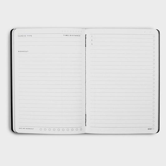 MiGoals GSD Fitness Notebook B6 SC Black