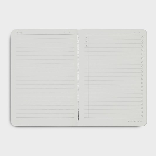 MiGoals GSD Limited Edition Notebook A6 SC Minimal Frost & Gold Foil