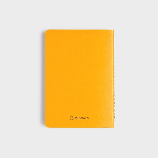 MiGoals Get _It Done Notebook A6 SC Minimal Yellow & Black Foil