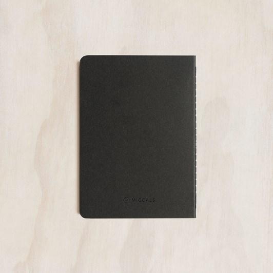MiGoals GSD Notebook A6 SC Classic Black & Black Foil