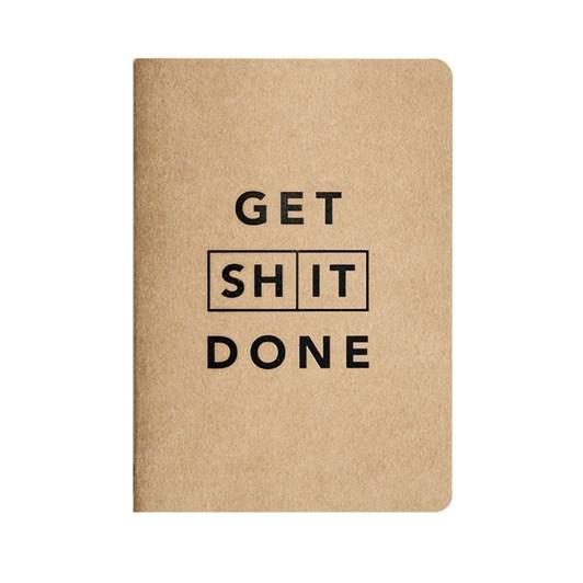 MiGoals Get Shit Done Notebook A6 SC Classic Kraft & Black Foil
