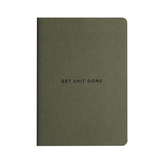 MiGoals GSD Notebook A6 SC Minimal Khaki & Black Foil