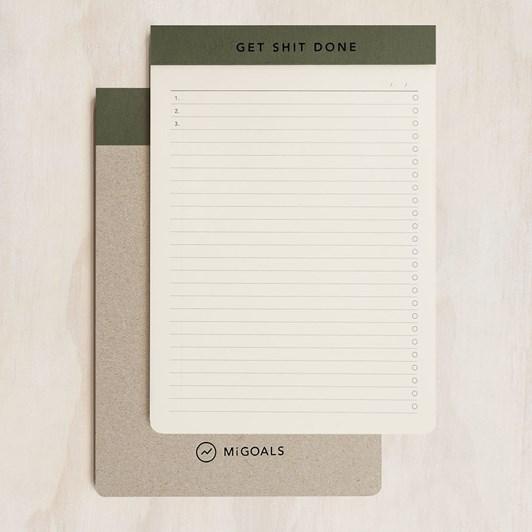 MiGoals GSD  Notepad A5 SC Manifesto Khaki & Black Foil