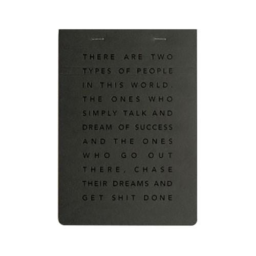 MiGoals Get Shit Done Notepad A5 SC Manifesto Black & Black Foil