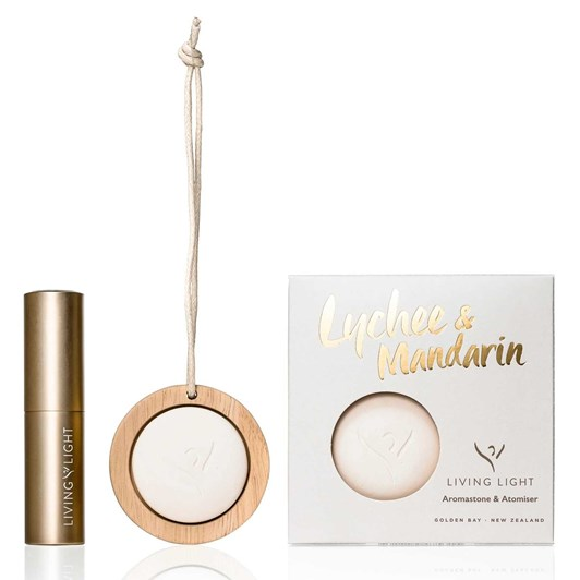 Living Light Dream Lychee & Mandarin Aromastone & Atomiser Set