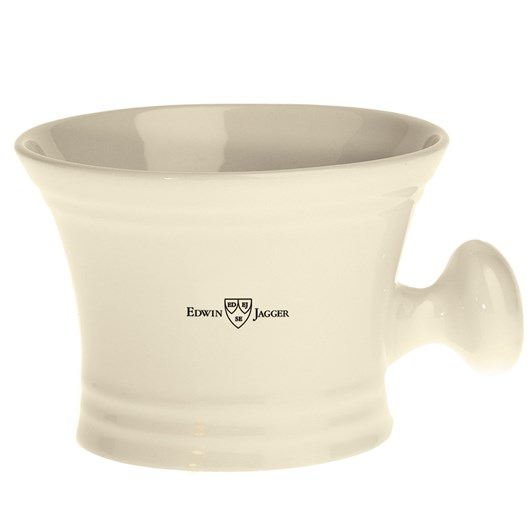 Edwin Jagger Ivory Porcelain Shaving Soap Bowl With Handle