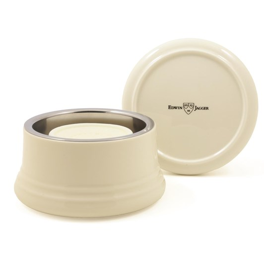Edwin Jagger Porcelain Shaving Soap Bowl With Lid - Ivory
