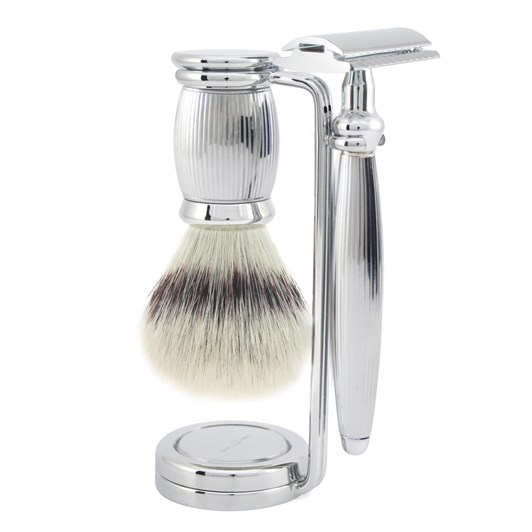 Edwin Jagger Bulbous 3 Piece Set Lined - Chrome