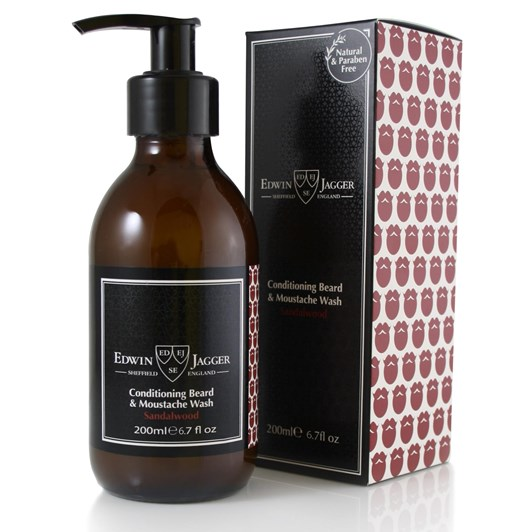 Edwin Jagger Conditioning Beard & Moustache Wash - Sandalwood - 200ml
