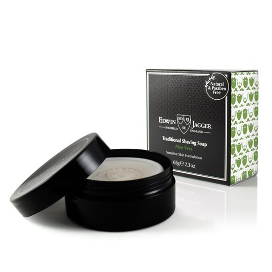 Edwin Jagger Natural Traditional Shaving Soap - Aloe Vera - 65g