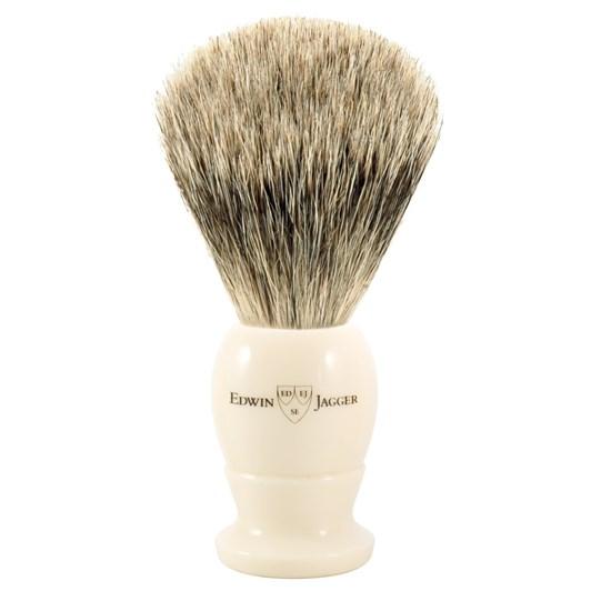 Edwin Jagger English Shaving Brush - Imitation Ivory - Medium - Best Badger