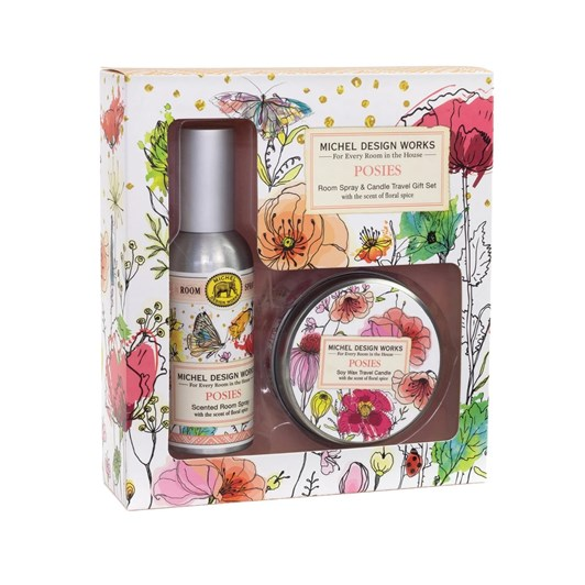 MDW Posies Room Spray & Travel Candle Set