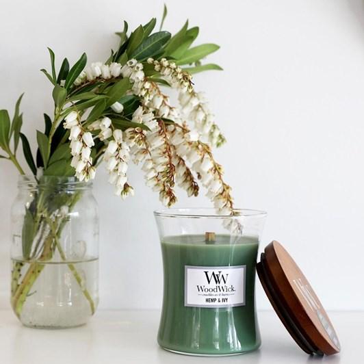 WoodWick Hemp & Ivy Medium