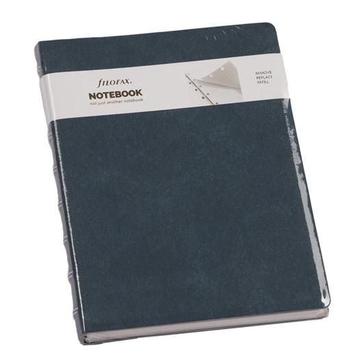Filofax A5 Notebook Architex - Blue Suede