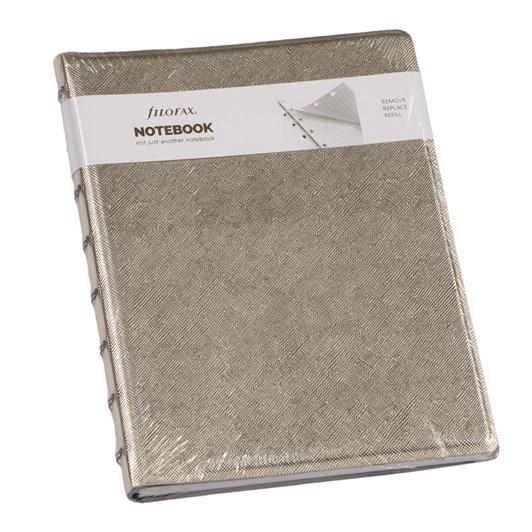 Filofax A5 Notebook - Saffiano Gold
