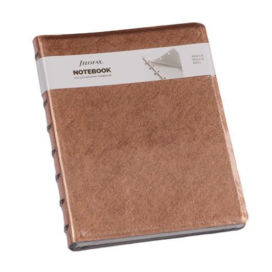 Filofax A5 Notebook - Saffiano Metallic Rose Gold