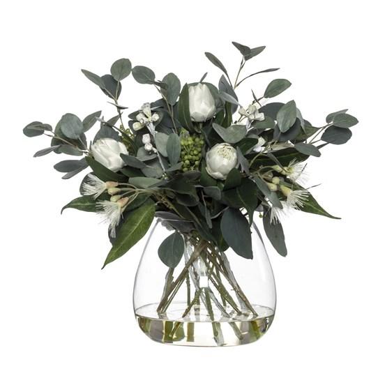 Protea Eucy Mix Garden Vase White