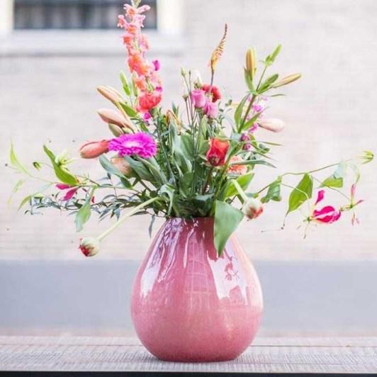 Dutz Cranberry Vase 32cm