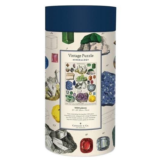 Cavallini Mineralogy 1000 Piece Vintage Puzzle