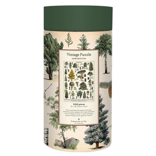 Cavallini Trees 1000 Piece Vintage Puzzle