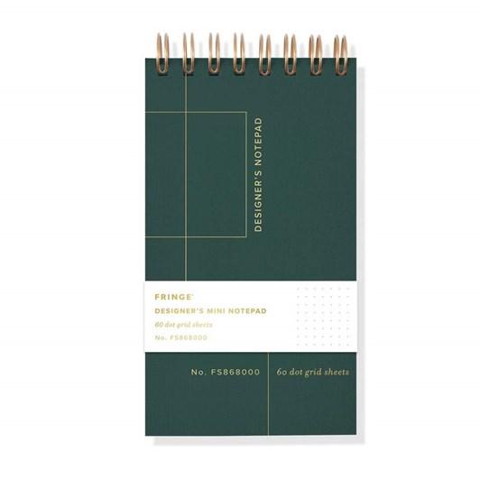 Fringe Grid Mini Spiral Designer's Notepad