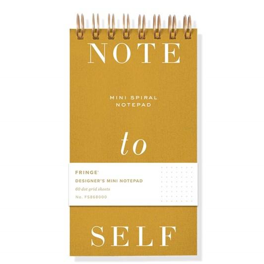 Fringe Note To Self Mini Spiral Designer's Notepad