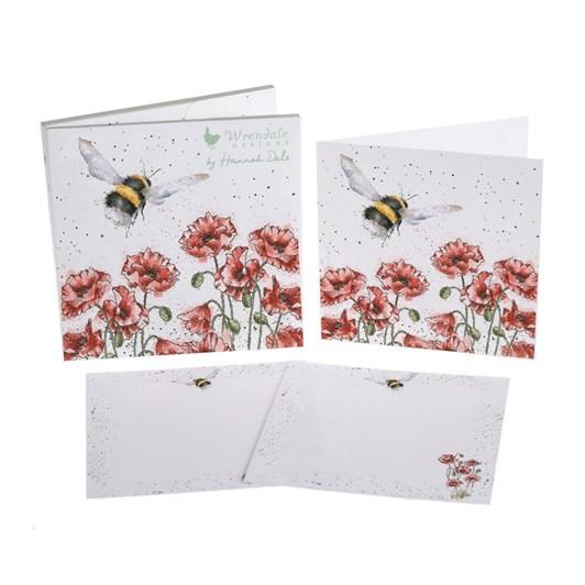 Wrendale Notecard Pack Flight Bumblebees