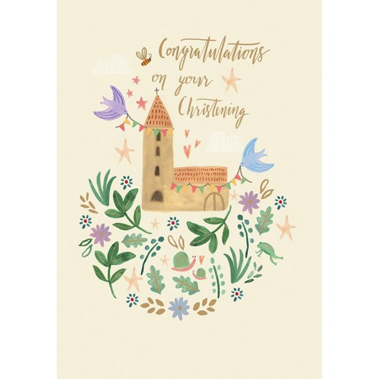 Roger la Borde Christening Church Card