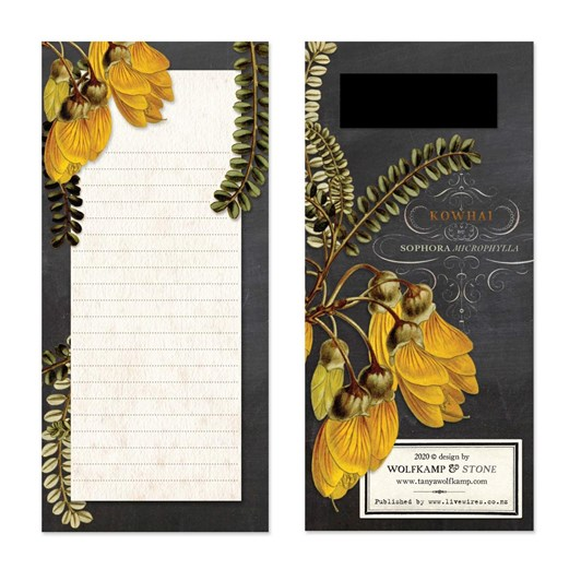 Tanya Wolfkamp Kowhai Flower Magnetic List Pad