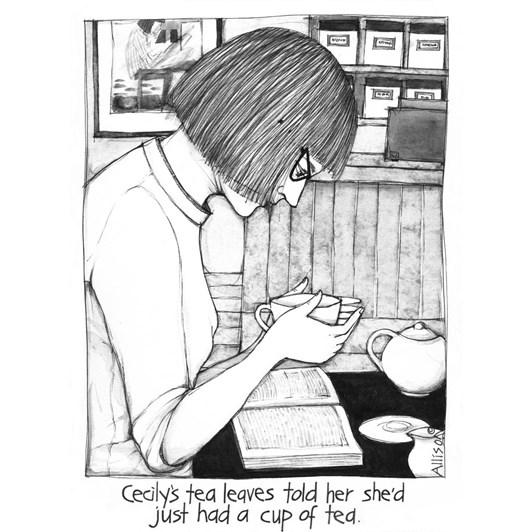 Cecily Tea Leaves Card