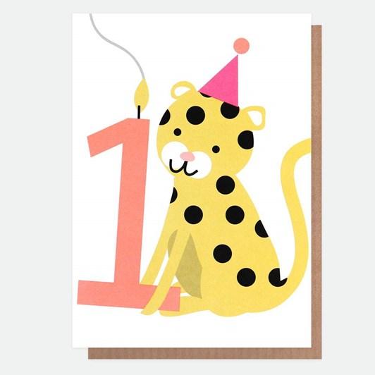 Caroline Gardner Age 1 Leopard Card