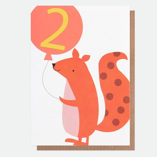Caroline Gardner Age 2 Squirrel Card