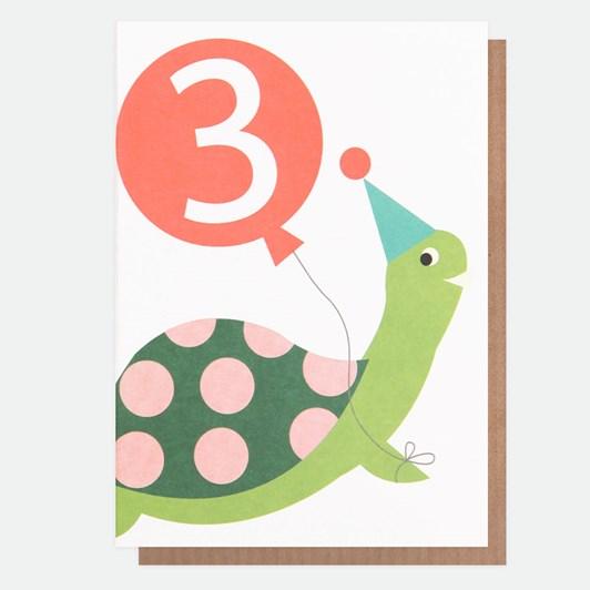 Caroline Gardner Age 3 Turtle Card