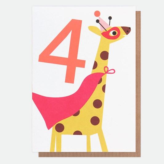 Caroline Gardner Age 4 Giraffe Card