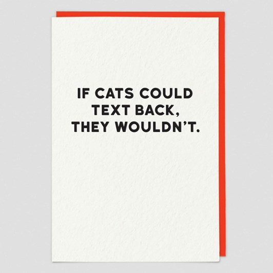 Museums & Galleries If Cats Could Text Card