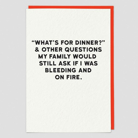 Museums & Galleries What's For Dinner Card