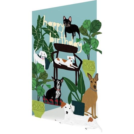 Roger La Borde Happy Birthday Dogs Lasercut Card