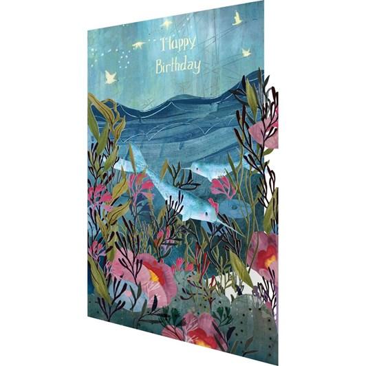 Roger La Borde Happy Birthday Narwhal  Lasercut Card