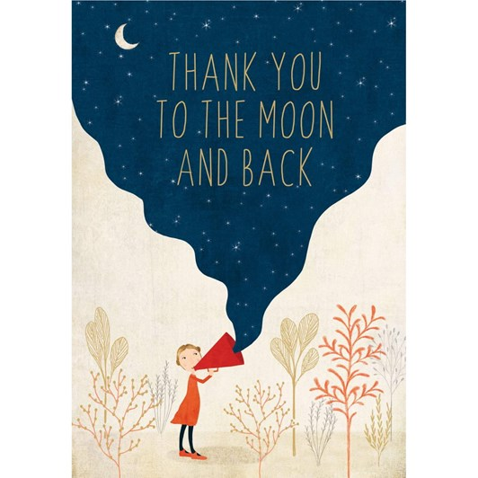 Roger La Borde Moon And Back Thank You Card