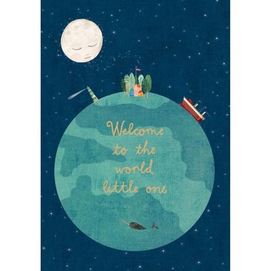 Roger La Borde Welcome World Baby Card